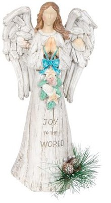 Joy to the World Nautical Angel Figurine  -