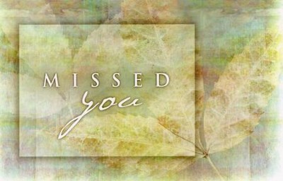 Missed You Postcard, 25                   -