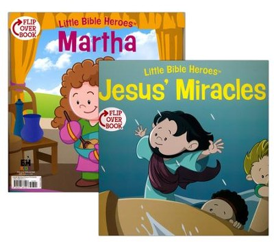 Jesus' Miracles/Martha Flip-Over Book  -     By: Victoria Kovacs     Illustrated By: Mike Krome, David Ryley