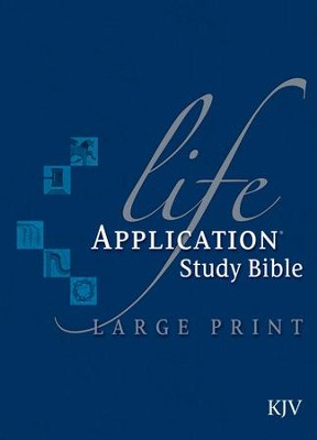 KJV Life Application Study Bible, Large Print, Hardcover  -