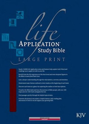 KJV Life Application Study Bible, Large Print, Bonded leather, burgundy  -