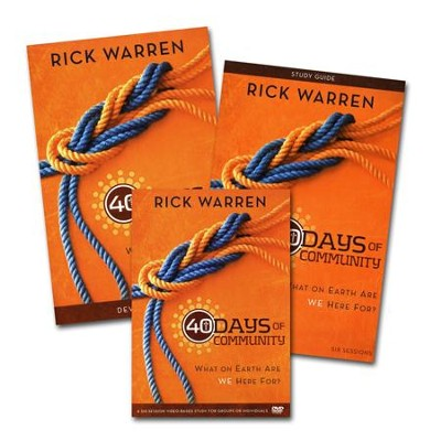 40 Days of Community Study Guide 3-product pack: What On Earth Are We Here For?, Study Guide, Devotional and DVD  -     By: Rick Warren