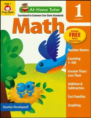 At-Home Tutor: Math, Grade 1     -