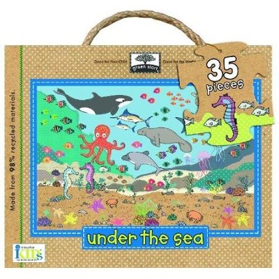Under the Sea: green start Earth-Friendly Giant Floor  Puzzle, 35 Pieces, 2 Feet x 3 Feet  -