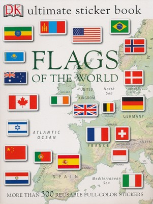 Ultimate Sticker Books: Flags of the World  -