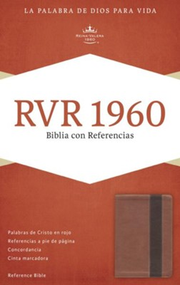 RVR 1960 Biblia con Referencias, cobre y marron profundo simil piel, RVR 1960 Reference Bible--soft leather-look, copper/dark brown  -