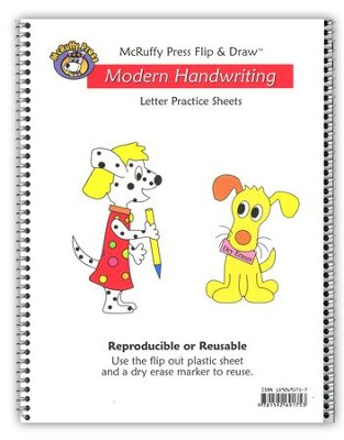 McRuffy Flip & Draw Modern Handwriting Letter Practice Sheets   -