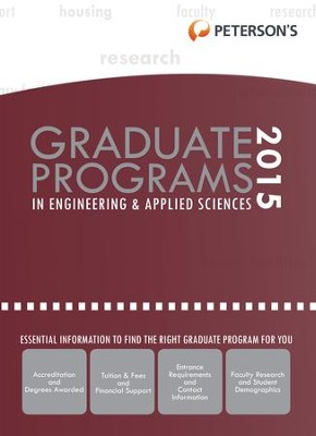 Graduate Programs in Engineering & Applied Sciences 2015 (Grad 5) - eBook  -