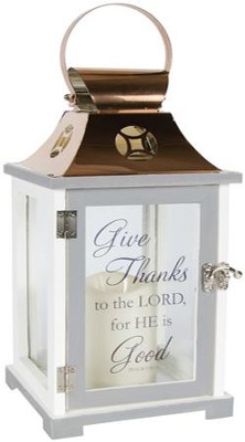 Give Thanks To the Lord, LED Lantern  -