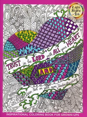 Trust in the Lord: Inspirational Coloring Book For Grown-Ups, Book 2   -
