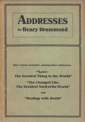 Addresses by Henry Drummond / Digital original - eBook  -     By: Henry Drummond