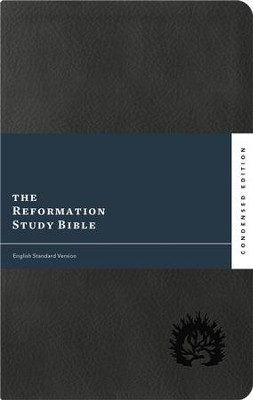 ESV Reformation Study Bible, 2017 Condensed Edition, Soft Leather-look, Charcoal  -     Edited By: R.C. Sproul