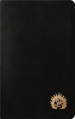ESV Reformation Study Bible, Condensed Edition, Black Genuine Leather, Gold gilding with Burning Bush  -