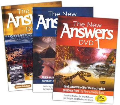 New Answers DVDs, 3 Volumes  -