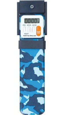 Bookmark Timer, Booklight, Blue Camo   -