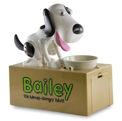 Bailey, The Money Hungry Mutt Bank  -