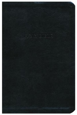 KJV Personal Size Giant Print Reference Bible, imitation leather, black  -