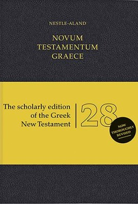 Novum Testamentum Graece, Nestle-Aland 28th Edition (NA28) Imitation Leather-Black  -     By: Institute for New Testament Textual Research