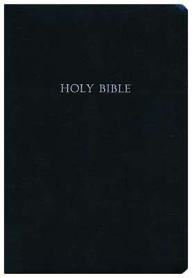 KJV Large Print Wide Margin Bible - Bonded Leather Black  -