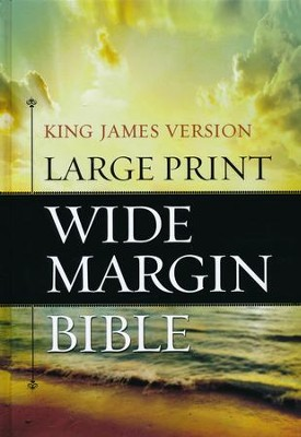 KJV Large Print Wide Margin Bible -Hardcover   -