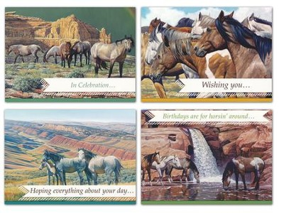 Horsing Around Birthday Cards, Box of 12   -     By: Scot A. Weir