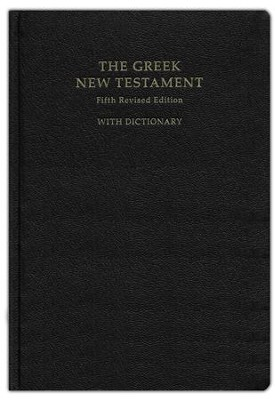 The Greek New Testament, Fifth Revised Edition (UBS5) with Concise Greek-English Dictionary [Imitation Leather]  -