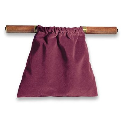 Genuine Velvet Offering Bag, Maroon  -