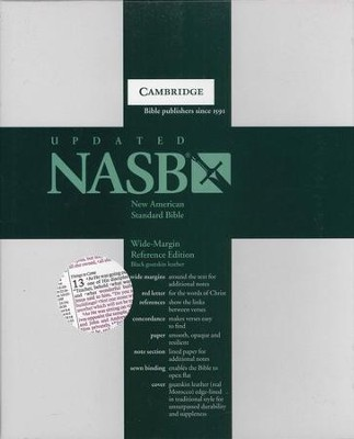 NASB Wide-Margin Reference Bible, Goatskin, black  -