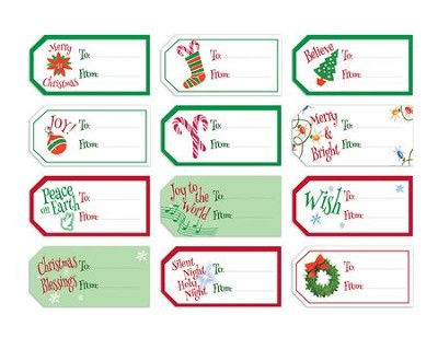 Christmas Gift Tags - Set of 48  -