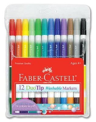 DuoTip Washable Markers, Pack of 12  -