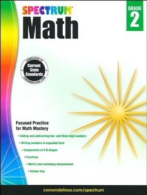 Spectrum Math Grade 2 (2014 Update)   -