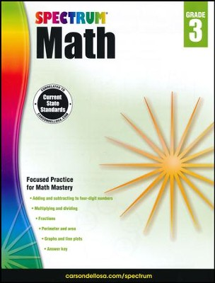 Spectrum Math Grade 3 (2014 Update)  -