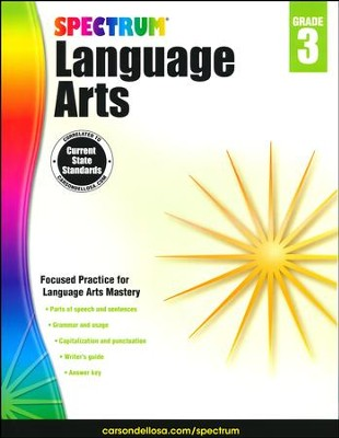 Spectrum Language Arts Grade 3 (2014 Update)  -
