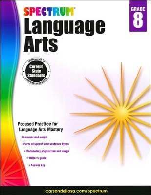 Spectrum Language Arts Grade 8 (2014 Update)  -