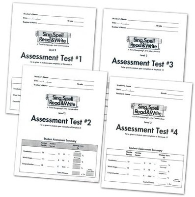 Sing, Spell, Read & Write Level 2 (Grand Tour) Assessment Booklets (4 booklets)  -