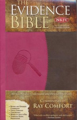 NKJV Evidence Bible, Duo-Tone Pink/brown  -     By: Ray Comfort