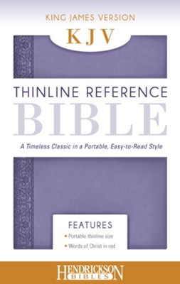 KJV, Thinline Reference Bible Portable, Flexisoft  leather, Lilac  -