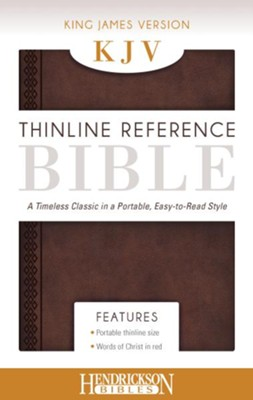 KJV, Thinline Reference Bible Portable, Flexisoft leather, Chestnut Brown  -