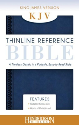 KJV, Thinline Reference Bible Portable, Flexisoft leather, Midnight Blue  -