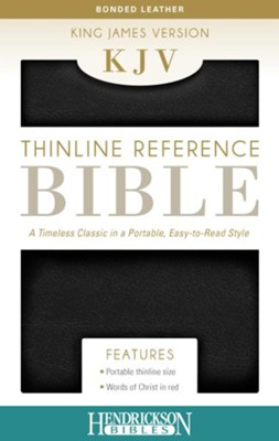 KJV Thinline Bonded leather Black   -