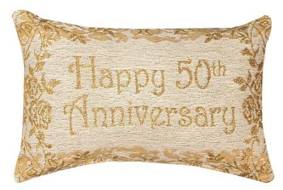Happy 50th Anniversary, Never Ending Love Pillow  -