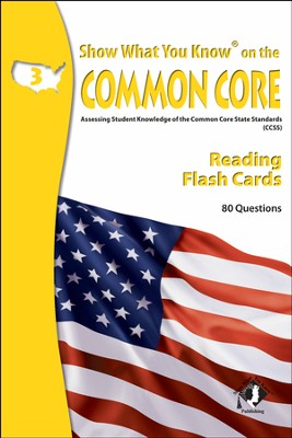 Show What You Know on the Common Core Reading Grade 3 Flash Cards  -