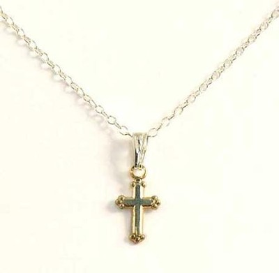 Child's Sterling Silver Cross Necklace   -