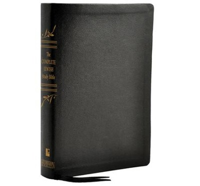 The Complete Jewish Study Bible, Genuine Calfskin  leather black  -     Edited By: Rabbi Barry Rubin