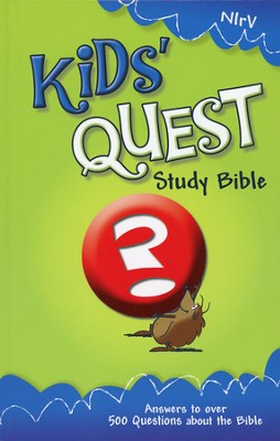 NIrV Kids' Quest Study Bible, Hardcover: Real Questions, Real Answers - Slightly Imperfect  -