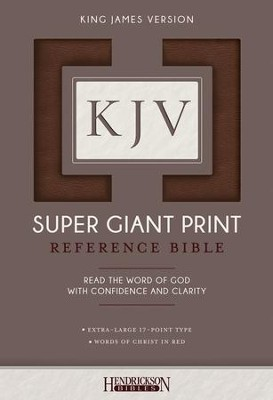 KJV Super Giant Print Reference Bible, flexisoft brown  -