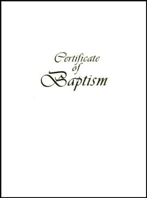 Contemporary Steel-Engraved Child Baptism Certificate (Package of 3)  -