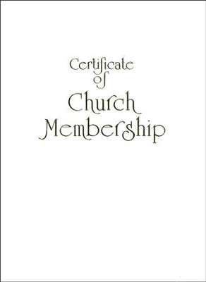 Contemporary Steel-Engraved Church Membership Certificate (Package of 3)  -