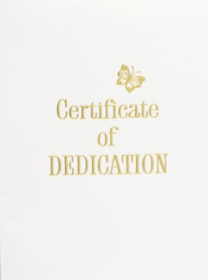 Contemporary Steel-Engraved Baby Dedication Certificate (Package of 3)  -