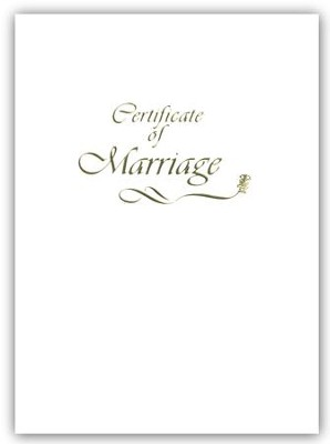 Contemporary Steel-Engraved Marriage Certificate (Package of 3)  -